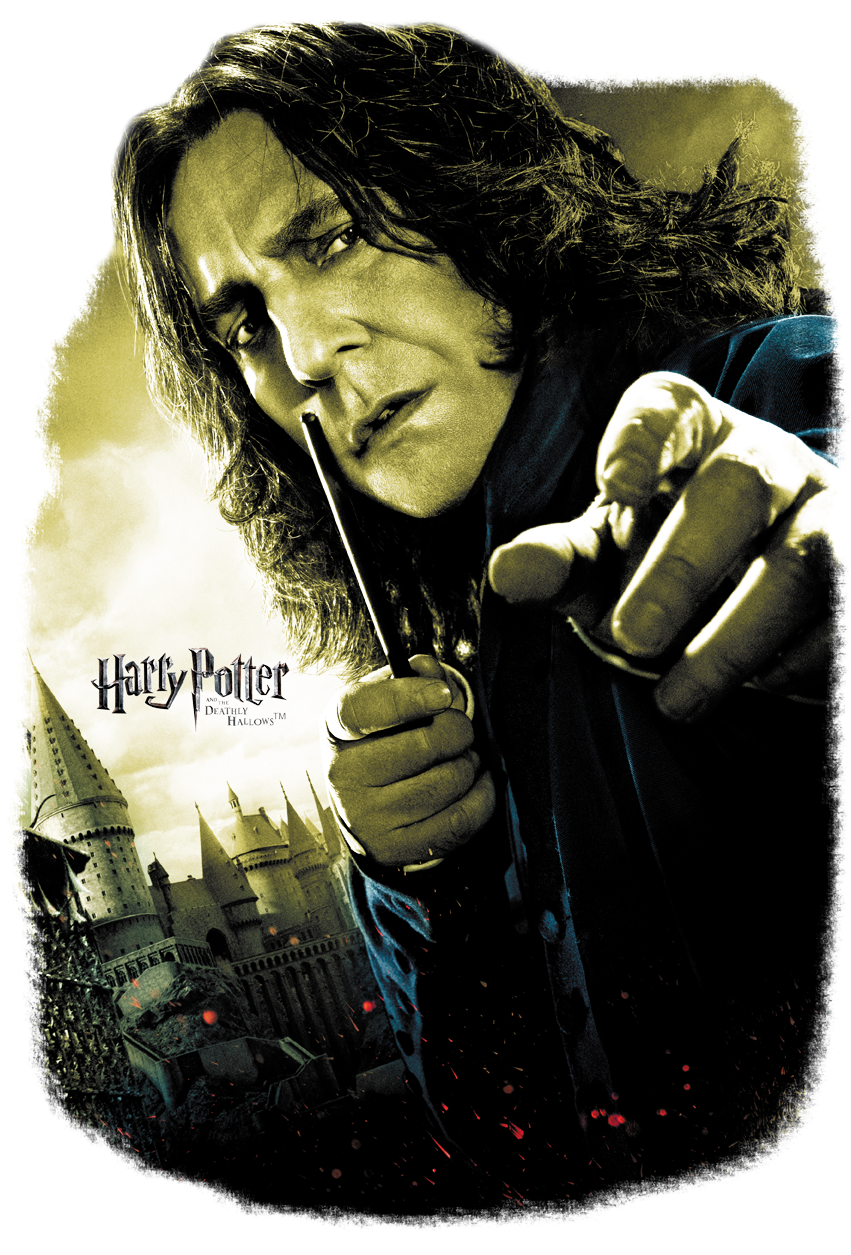 Harry Potter Snape Poster Youth T Shirt - Harry Potter And The Deathly Hallows Part 2 Snape Poster (850x1283), Png Download