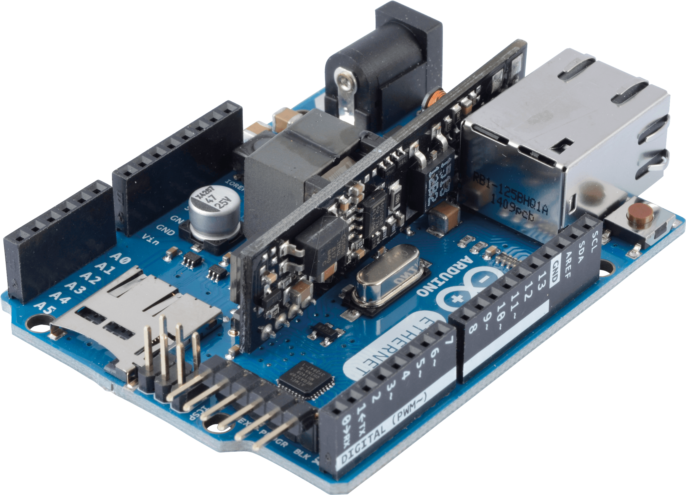 Download Arduino Ethernet Shield 2 With Poe PNG Image with