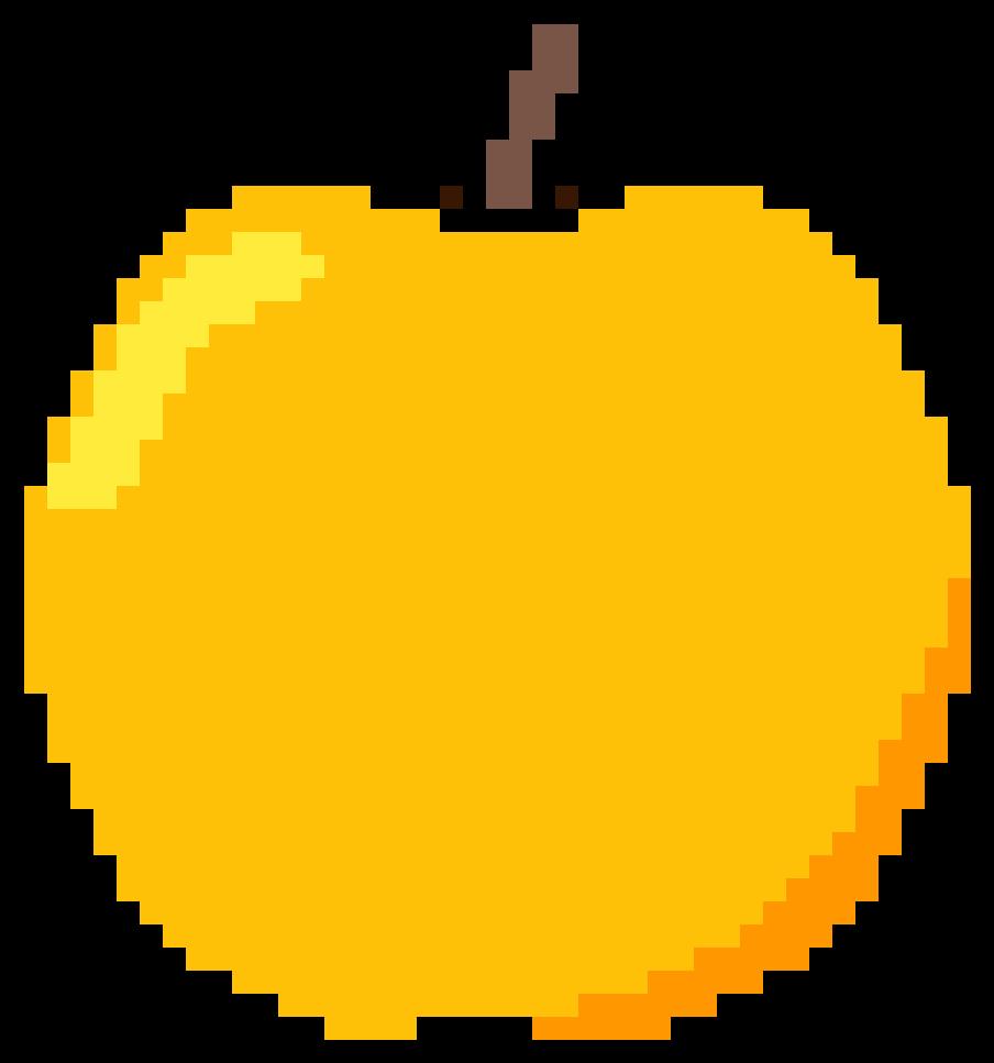 Golden Apple - Minecraft Pixel Art Emojis (1344x1344), Png Download