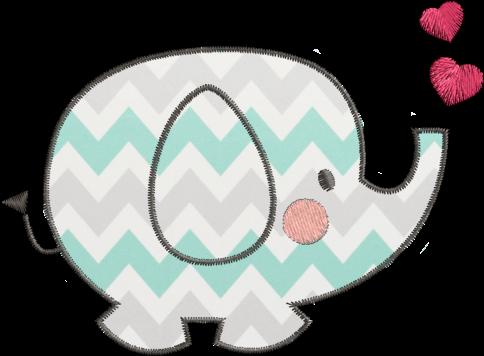 Download Elefante Aplique Desenho Elefantinho Para Bordar Png