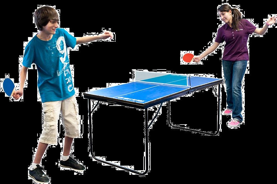 Картинка дети играют в настольный теннис