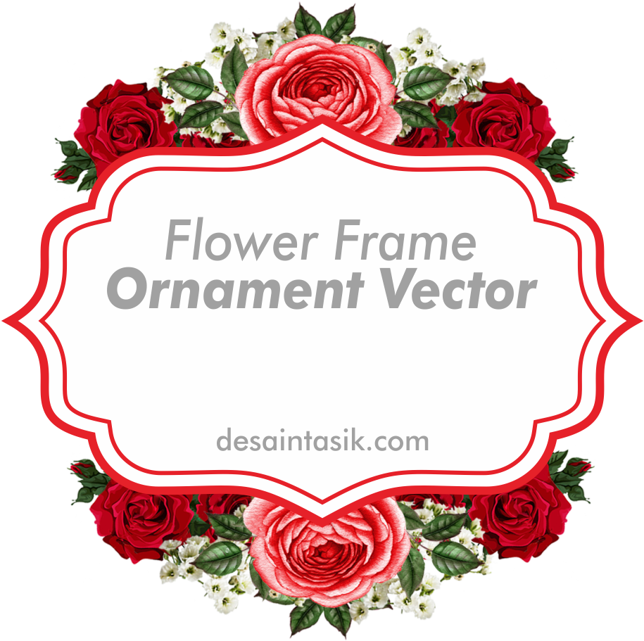 Download Frame Flower Ornament Vektor Bunga Png Png Image With