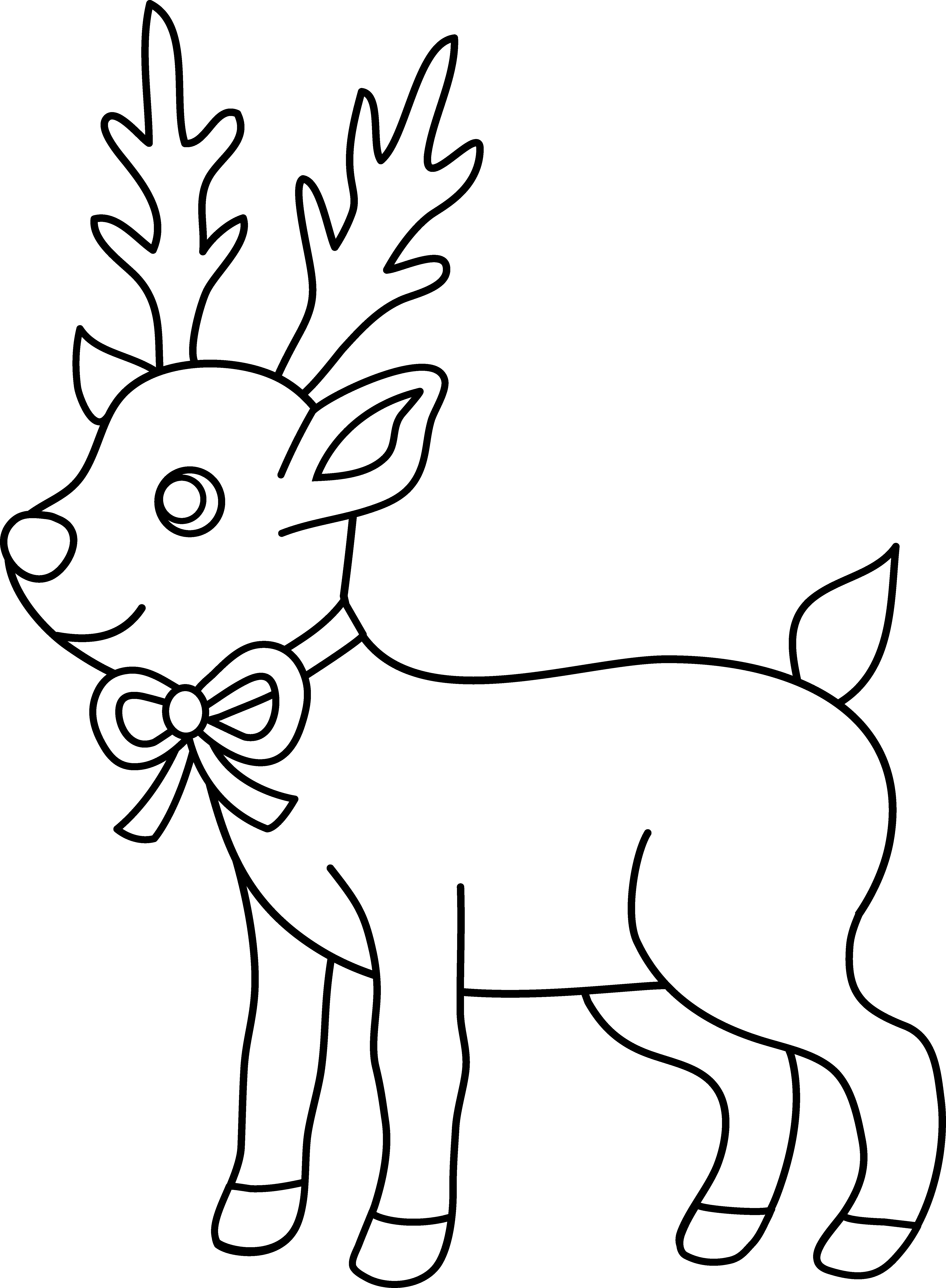 Download Christmas Reindeer Coloring Page - Christmas ...
