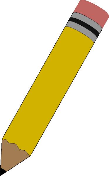 Banner Library Download Pencil Clip Art At - Pencil Clipart (372x597), Png Download