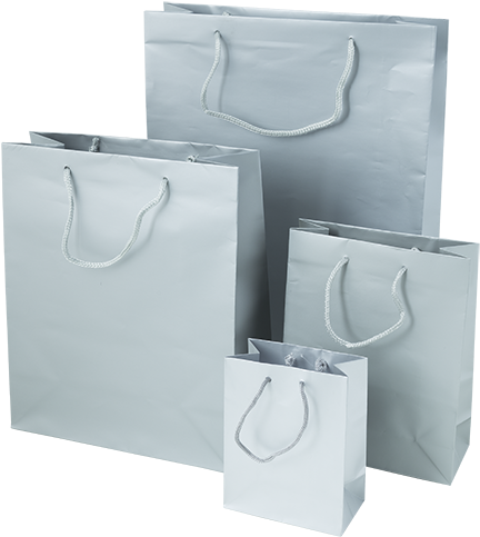 Silver Luxury Gift Bags - Plastic Shopping Bag (500x500), Png Download