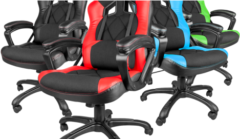 Nitro 330 Gaming Chair - Natec Genesis Gaming Chair Sx33 Black-red (604x270), Png Download