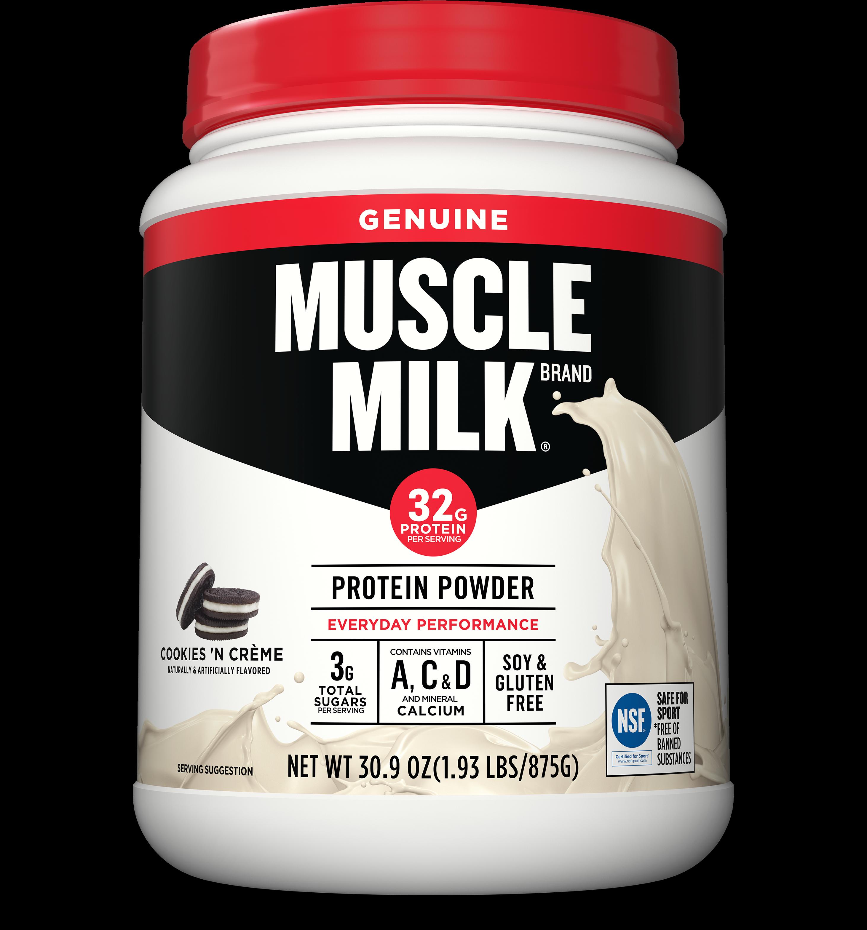Muscle Milk Genuine Protein Powder, Cookies & Cream, - Muscle Milk Protein Cookies And Cream (3200x3626), Png Download