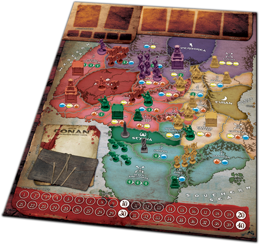 Age Of Conan Strategy Board Game - Grail Games Medici: The Card Game (519x488), Png Download