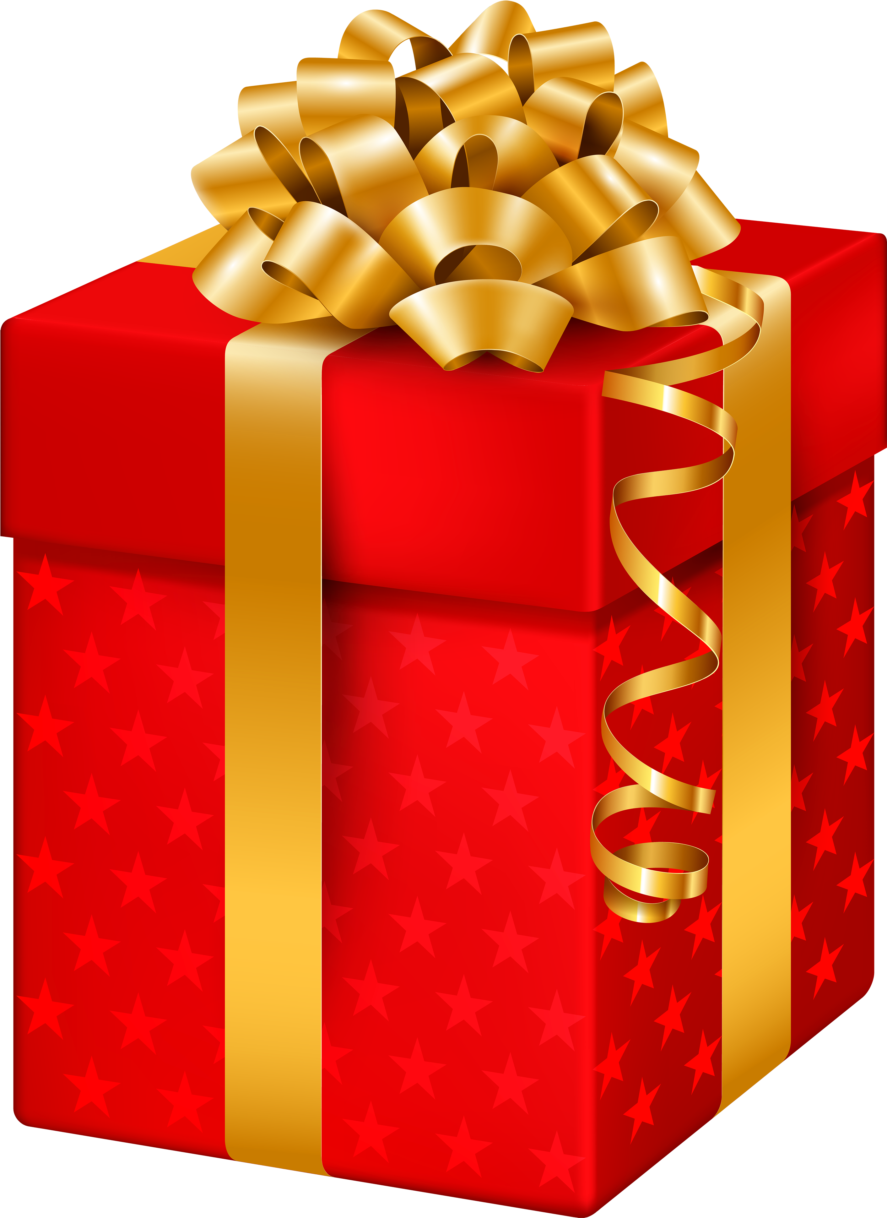 Download Red Gift Box With Stars Png Clipart Clipart Of Christmas Gifts Png Image With No Background Pngkey Com