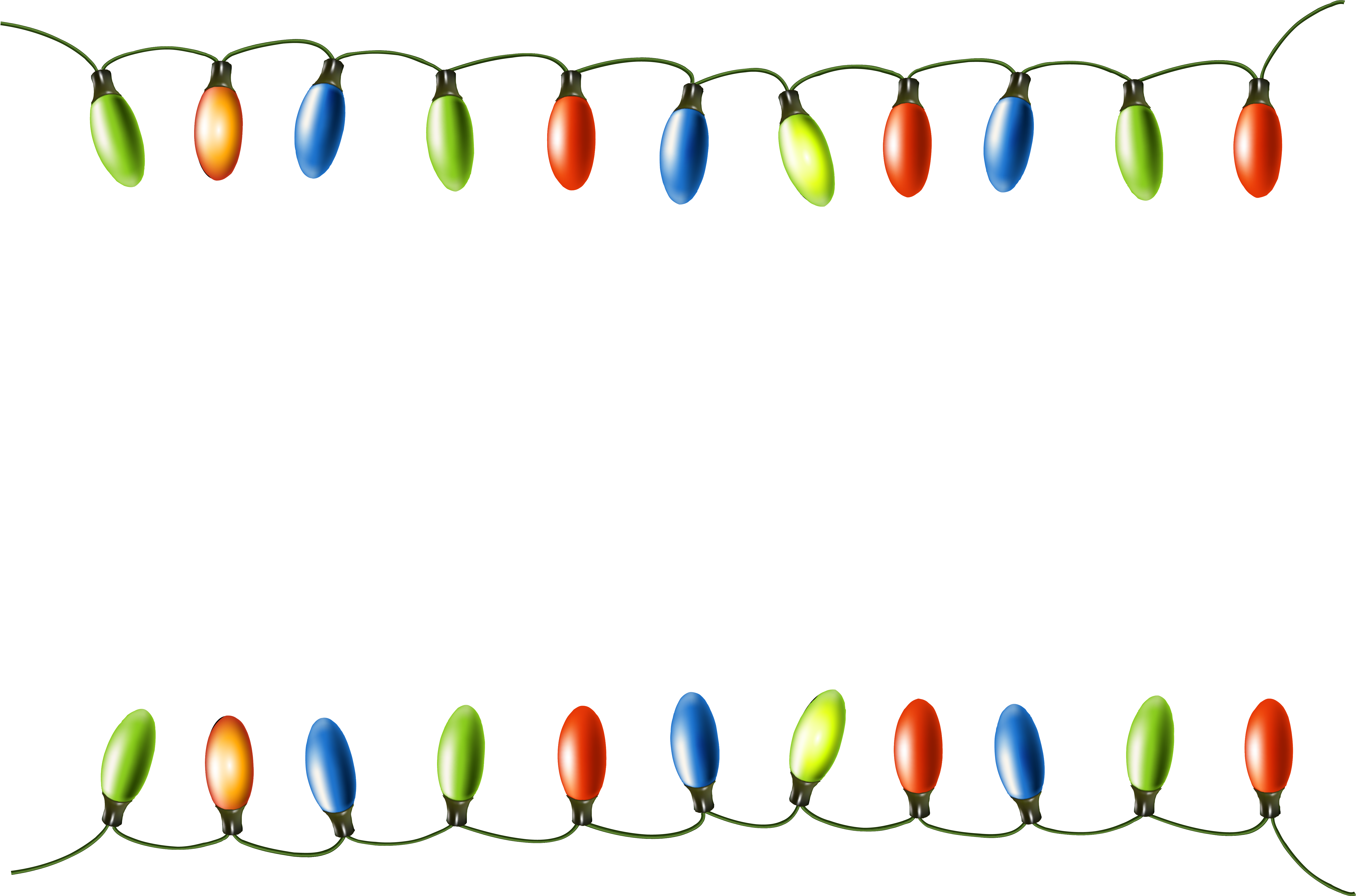Clip Freeuse Library Collection Of Lights High Quality - Boarder Transparent Christmas Lights Clipart (6306x4313), Png Download