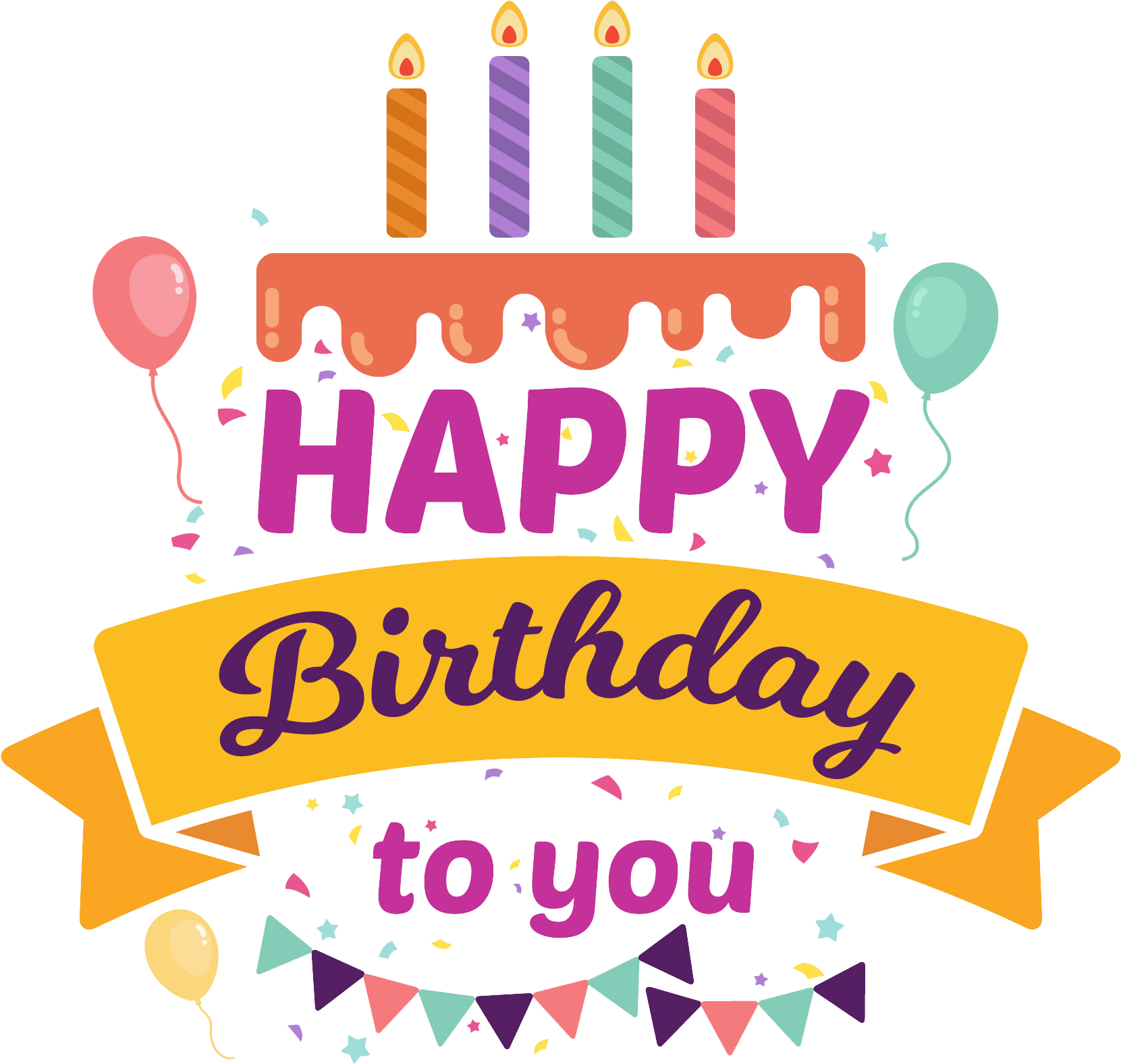 Birthday candles png happy birthday sticker design 1024x1024 png download