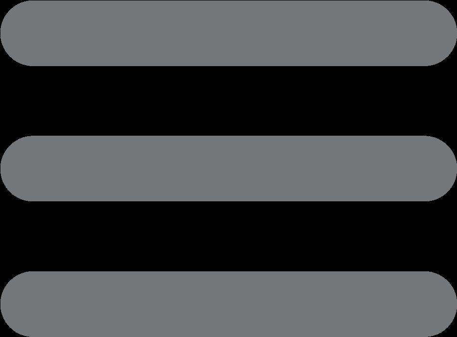 Hamburger Menu Icon - Menu Button Three Lines (1024x1024), Png Download