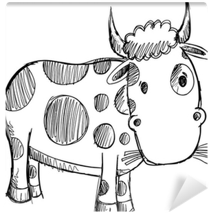 Download Cow Sketch Doodle Drawing Illustration Art Wall