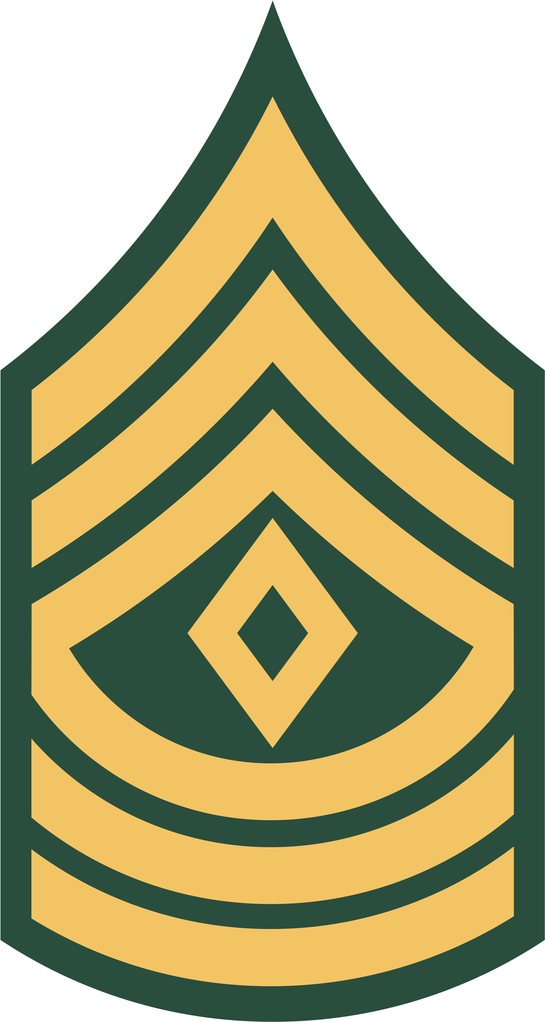 Military Stripes Clipart Clip Art Library - Army First Sergeant Rank (2000x3600), Png Download