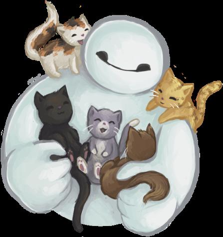 Drawn Grumpy Cat Baymax - Big Hero 6 Cats (500x529), Png Download