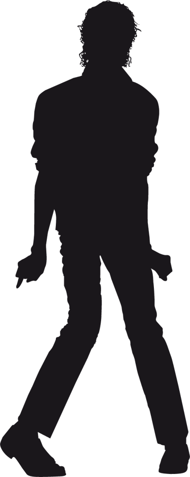 Siluetas De Michael Jackson - Michael Jackson Silhueta Thriller (374x936), Png Download