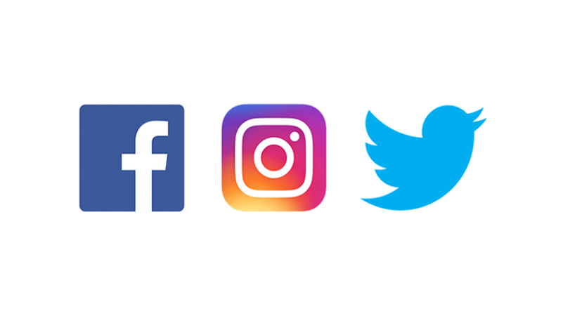 Logos For Instagram, Twitter, And Facebook - Facebook Instagram Twitter Logos Png (800x800), Png Download