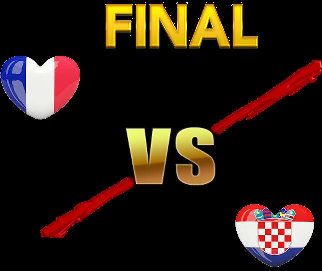 Fifa World Cup 2018 Final Match France Vs Croatia Png - World Cup Final 2018 France Vs Croatia (716x543), Png Download