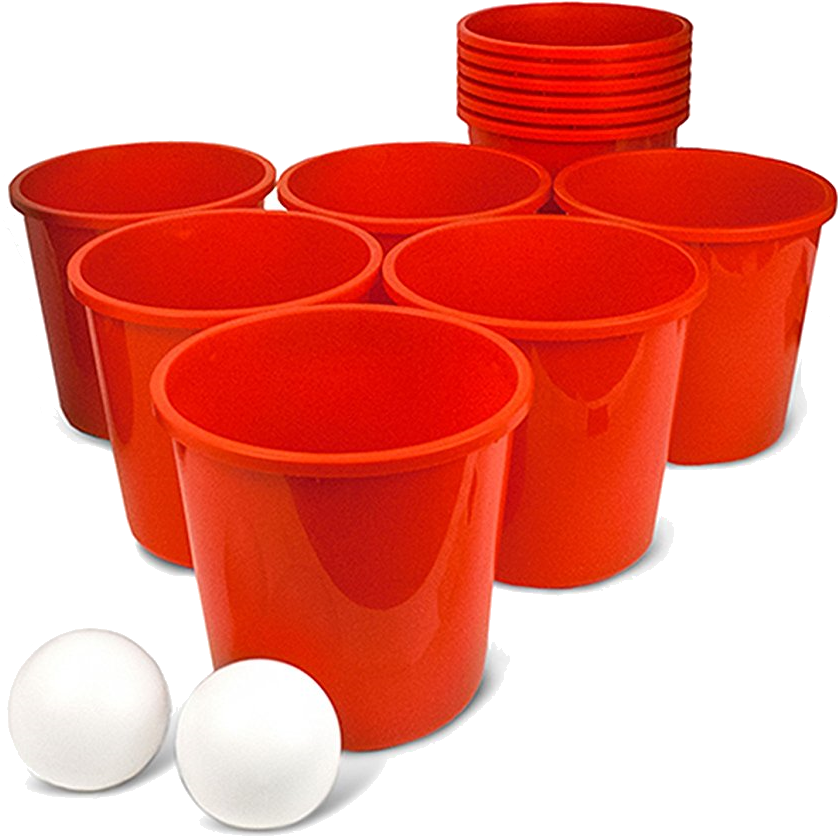 Download Giant Bucketpong Game - Beer Pong PNG Image with No