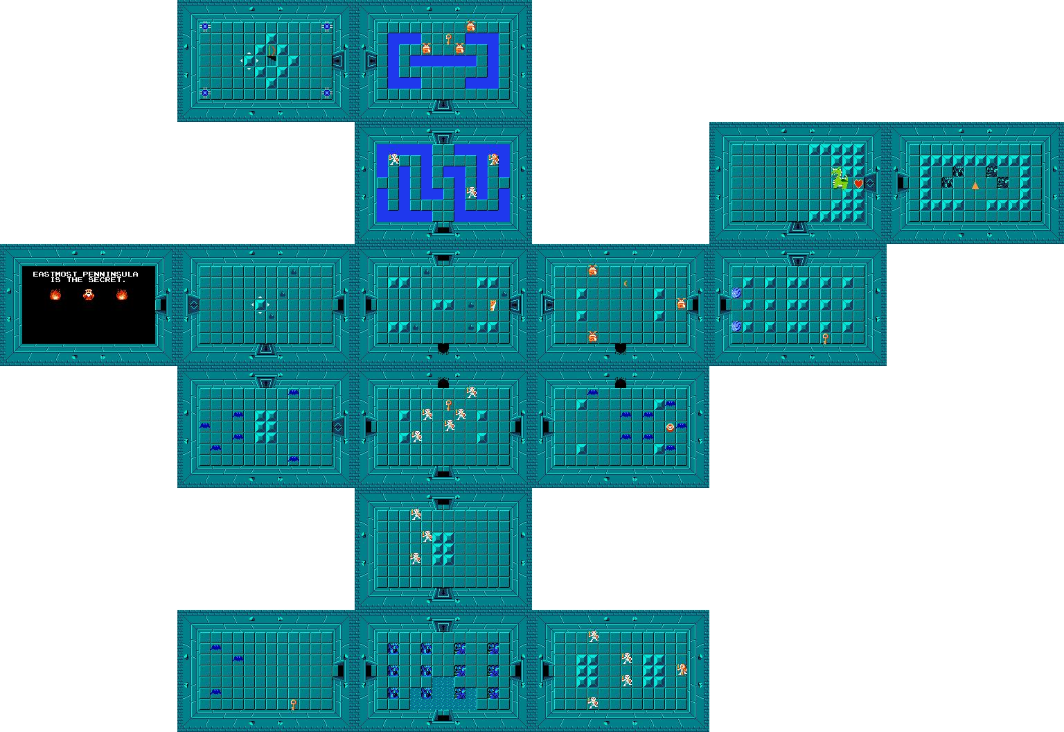 Dungeon 1 Thumbnail - Legend Of Zelda Level 1 (1536x1056), Png Download
