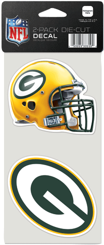 """Green Bay Packers 2 Pack Die Cut Decals 4""""x4"""" 6 Pc - Wincraft, Inc. Green Bay Packers Set Of 2 Die Cut Decals (500x500), Png Download"""