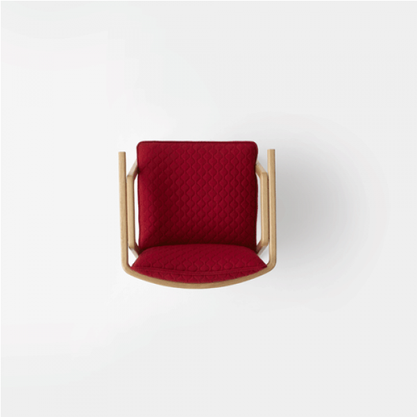 Download Pick Up Sticks Armchair - Red Chair Top View Png ...