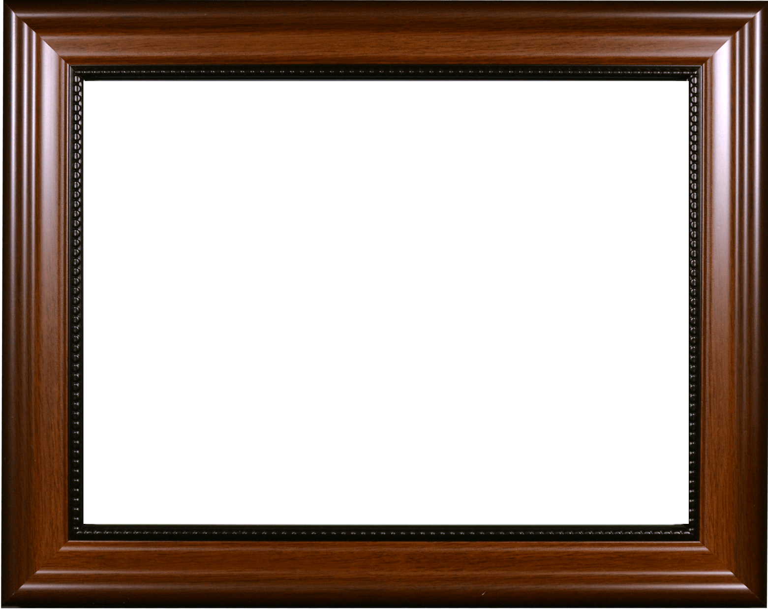 Walnut With Bead Certificate Frame Made At Wyman Frame - Vintage Frame (1561x1238), Png Download