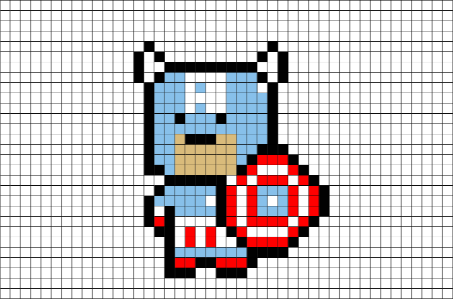 Download Super Hero Pixel Art Minecraft Png Image With No Background Pngkey Com