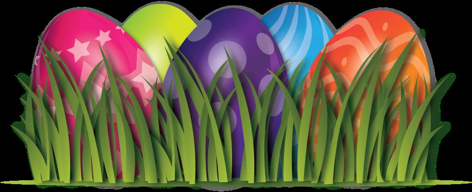 Easter Egg Border Png - Easter Eggs Transparent Background (1277x497), Png Download
