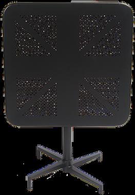 """30""""x30"""" Indoor/outdoor Metal Folding Table In Black - 30"""" X 30"""" Indoor/outdoor Metal Folding Table In Red (500x500), Png Download"""