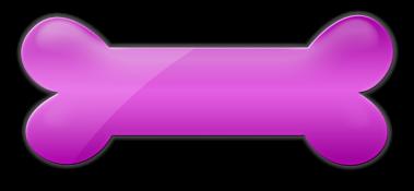 Download Dog Bone Biscuit Icon Pink Dog Bone Cartoon Png Image
