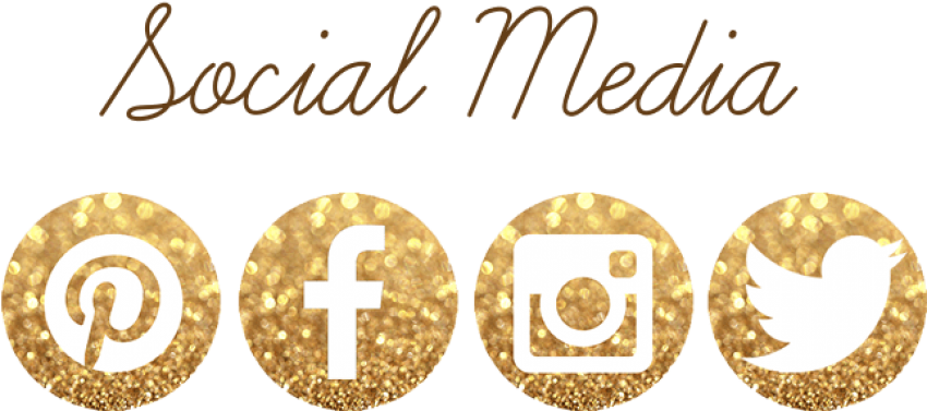 Social Media - Gold Facebook And Instagram Logo (702x310), Png Download