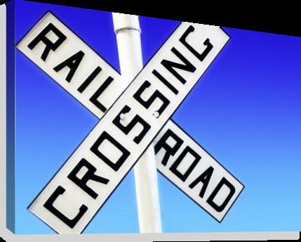 Download Railroad Crossing Sign Impression Sur Toile