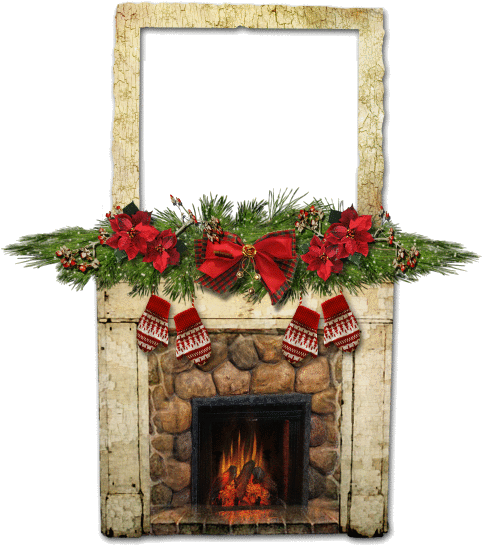 Download Christmas Fireplace Frame Clip Art Frames Png