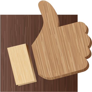 Download Facebook Icon - Facebook Like On Wood (800x800), Png Download