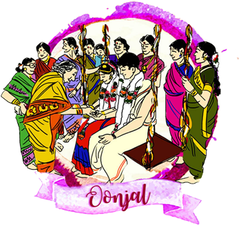 Download On The Day Of The Wedding The Events Will Be In The South Indian Wedding Cartoons Png Image With No Background Pngkey Com