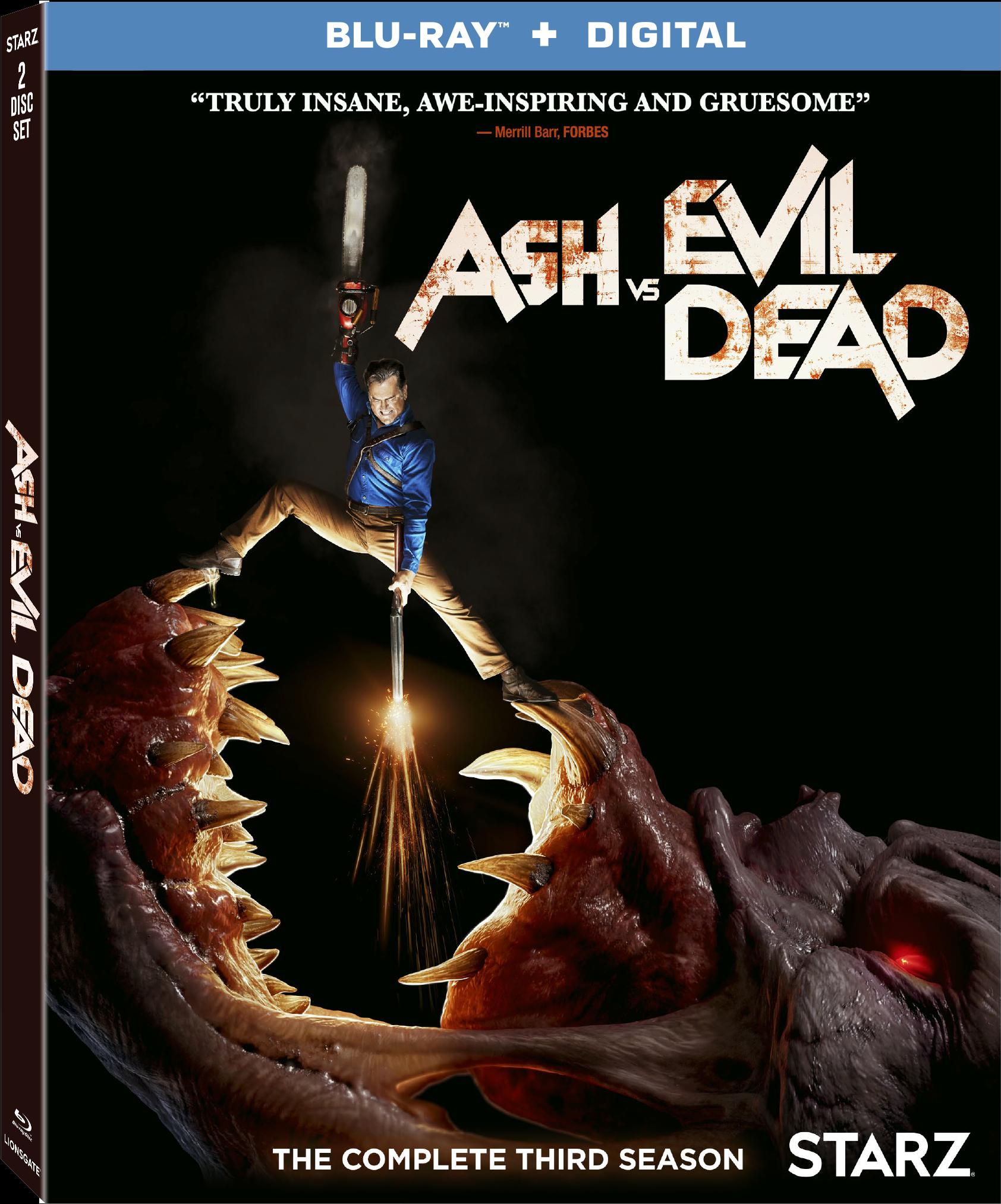 Season 3 Blu-ray Combo Pack Cover - Ash Vs Evil Dead Season 3 Dvd (1920x2550), Png Download