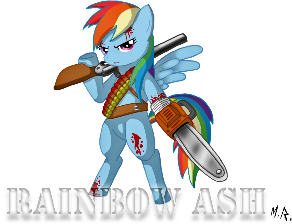 Evil Dead A Fistful Of Boomstick Evil Dead Hail To - My Little Pony Evil Dead (1011x791), Png Download