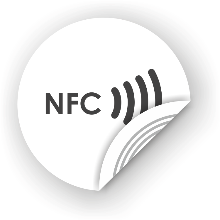 Download Picture Of Nfc Sticker 50mm With Text, - Nfc Logo