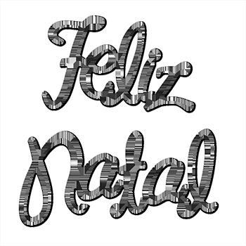 Download Feliz Natal Preto E Branco Png Image With No Background