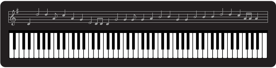 Teclado - Music Teacher Thank You Black And White Musical Notes (960x480), Png Download