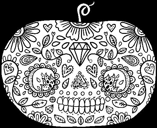 Download Dibujo De Calabaza Del Día De Los Muertos Para Colorear