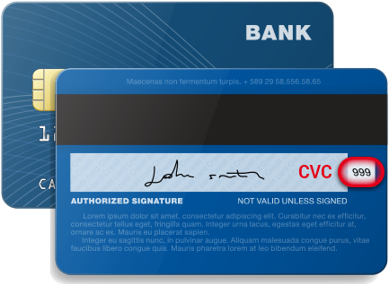 Download Credit Cards Back Cvc Security Code - Card Security Code