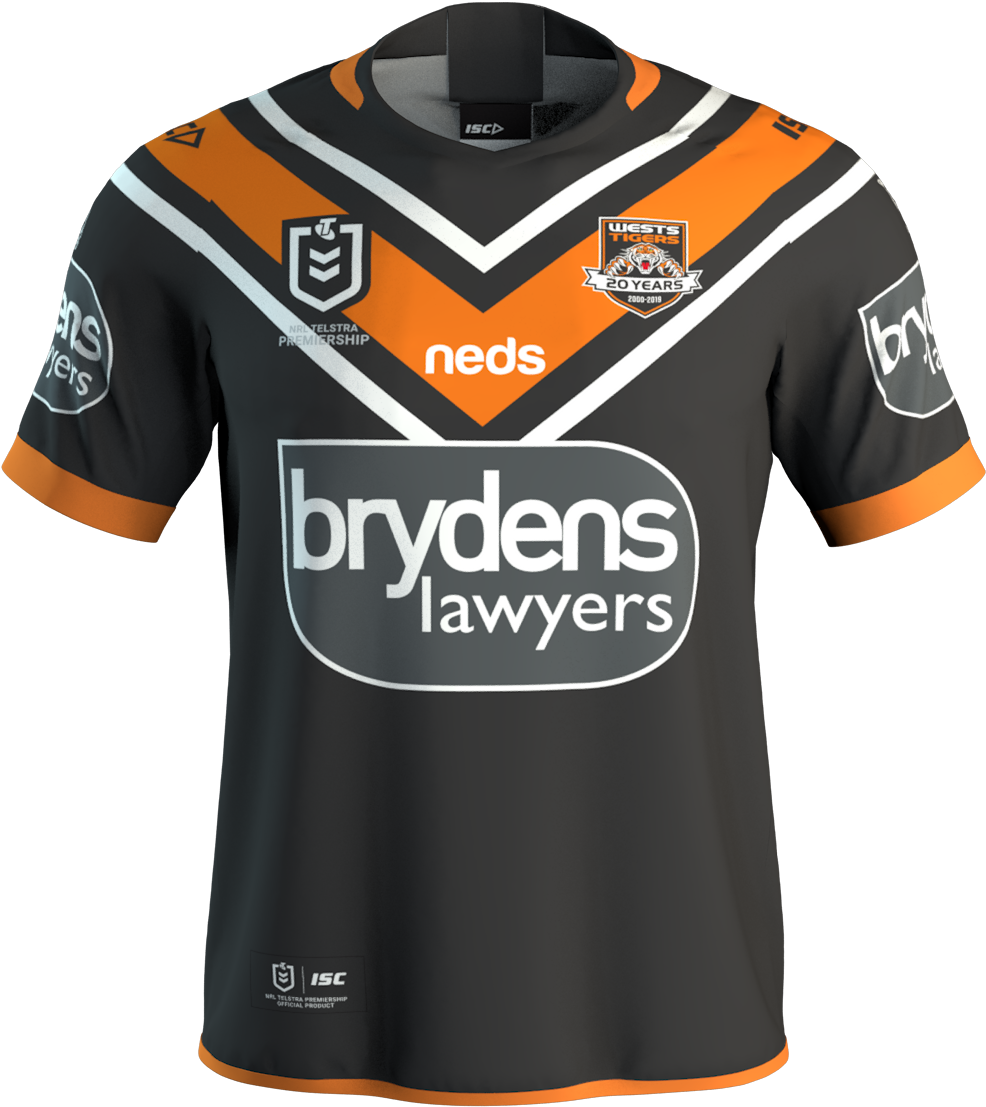 Dale Johnson Liked This - Wests Tigers Home Jersey 2017 (1200x1920), Png Download