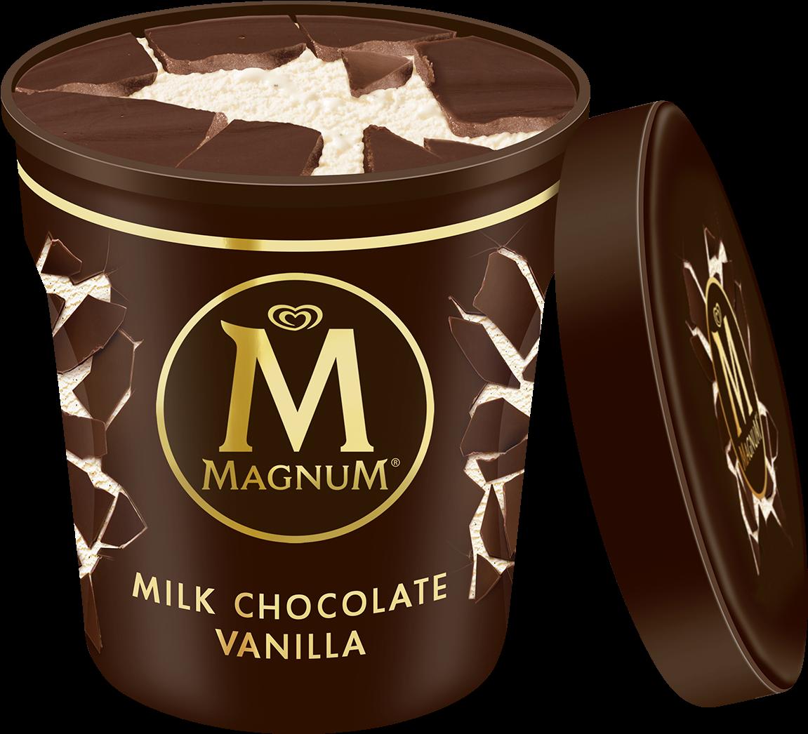 Download Receta De La Paleta Magnum De Veronica Ferraro Magnum Ice Cream Pint Png Image With No Background Pngkey Com