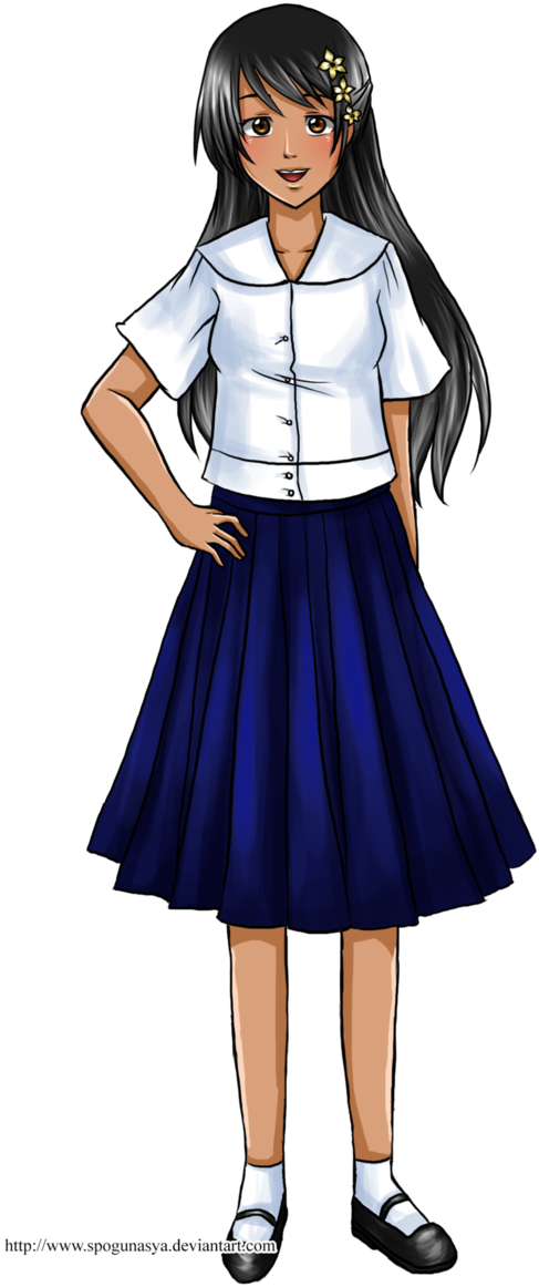 Download Picture Transparent Library Collar Drawing Anime Uniform