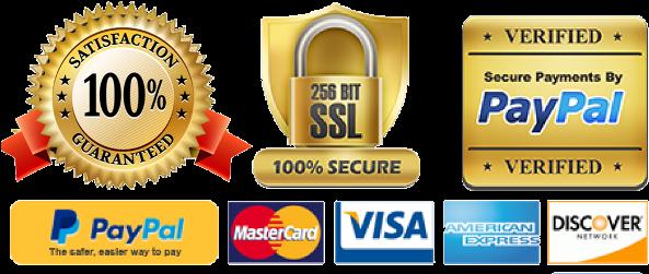 Trust Badges Transparent Background (593x286), Png Download