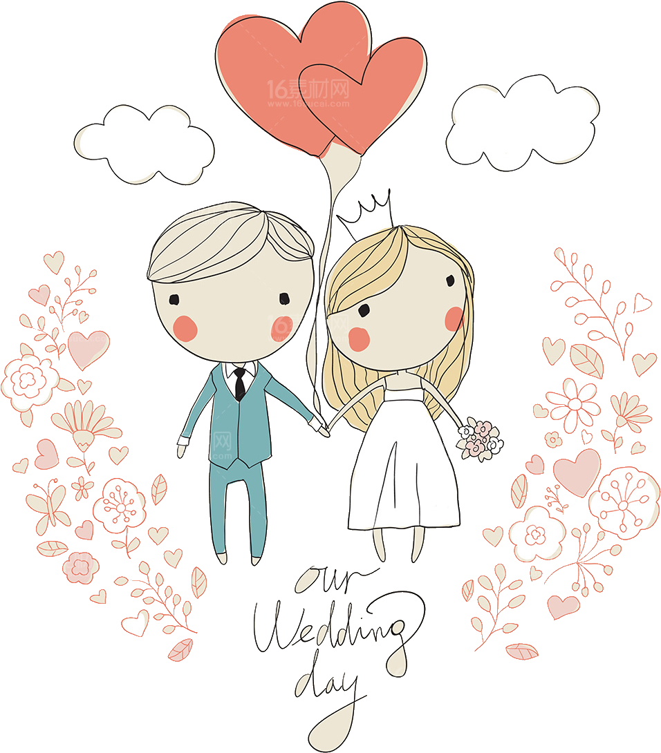 Download Svg Download Wedding Invitation Illustration Cartoon Cute Wedding Card Vector Png Image With No Background Pngkey Com
