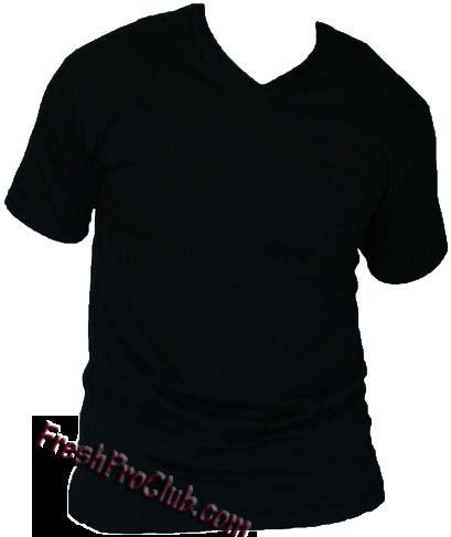black v neck t shirt png