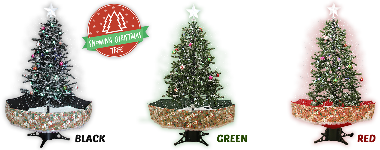 Snowing Christmas Tree - Christmas Ornament (1290x500), Png Download